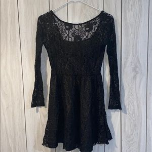 Black sparkly lace dress
